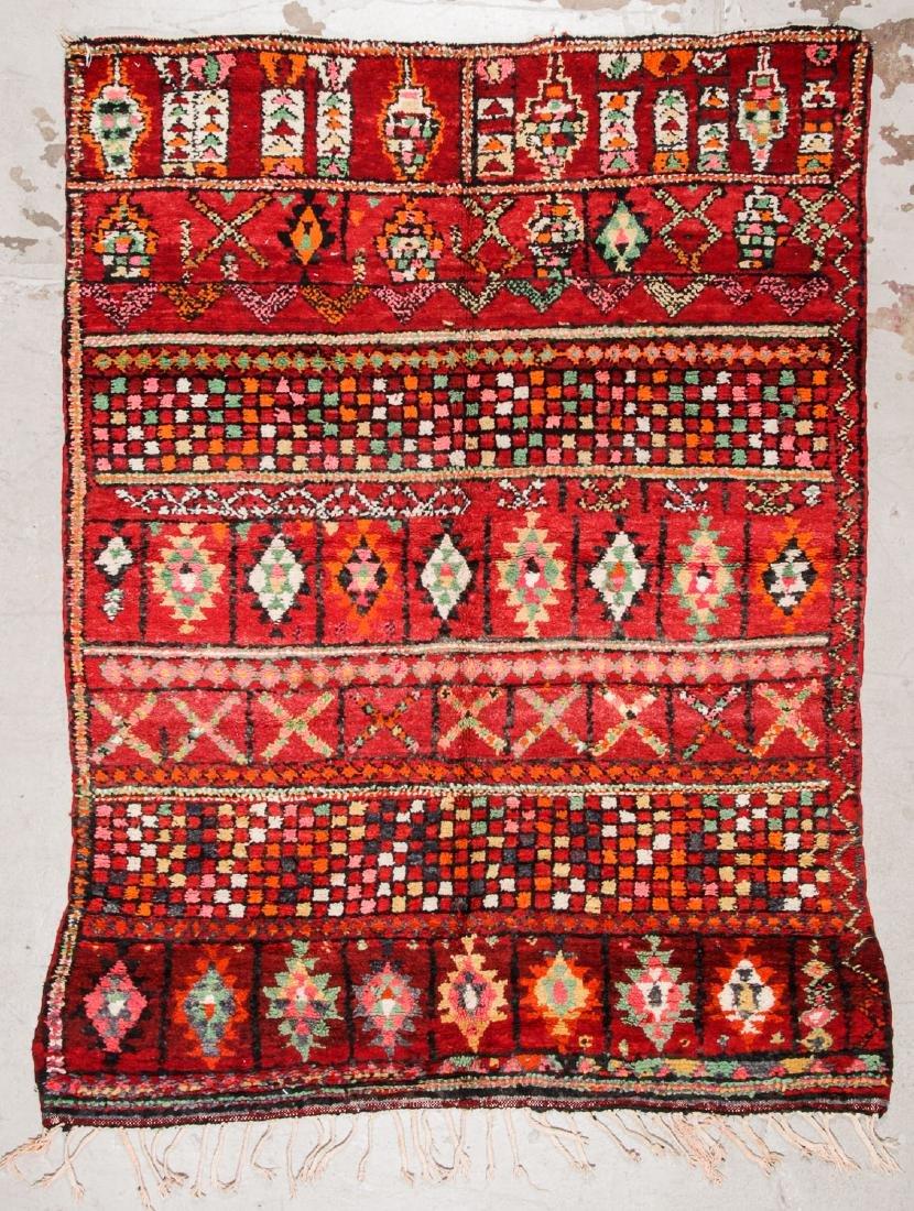 Vintage Moroccan Rug: 6'2'' x 8'0''