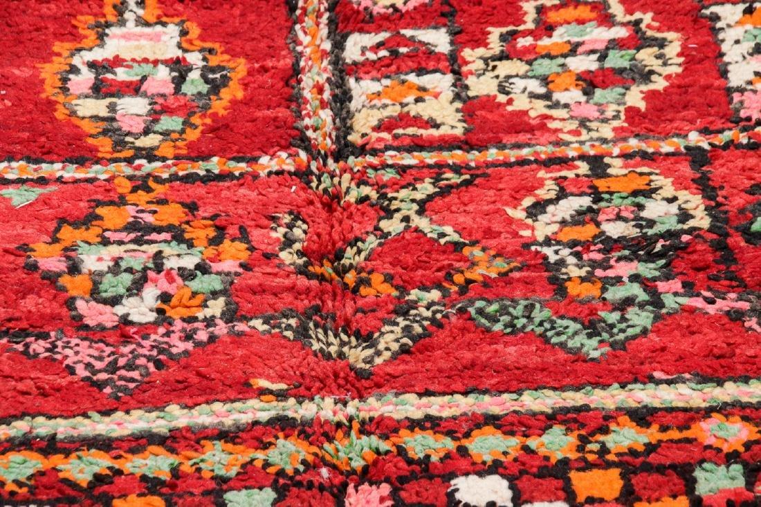 Vintage Moroccan Rug: 6'2'' x 8'0'' - 6