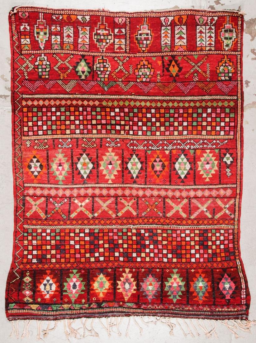 Vintage Moroccan Rug: 6'2'' x 8'0'' - 7
