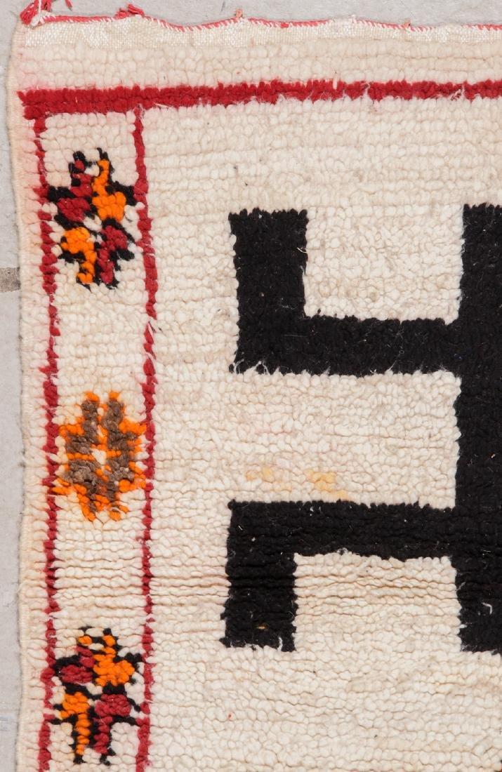 Vintage Moroccan Rug: 3'5'' x 3'10'' - 3