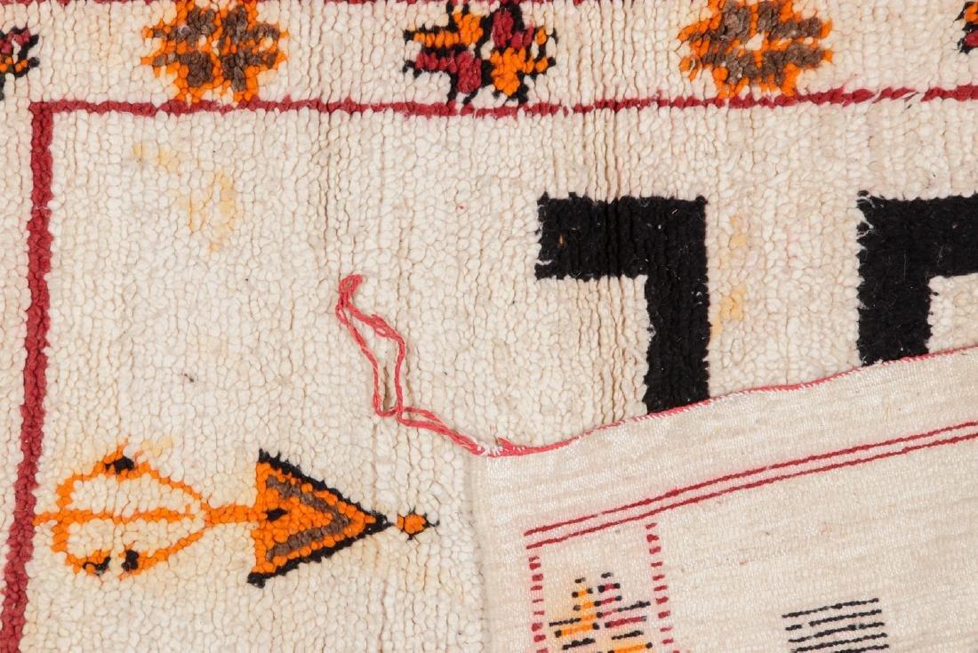 Vintage Moroccan Rug: 3'5'' x 3'10'' - 4