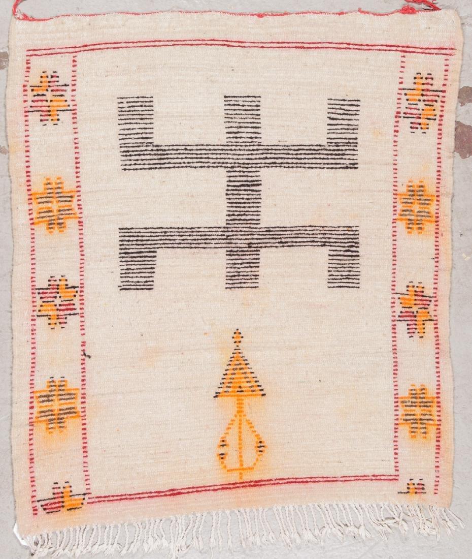 Vintage Moroccan Rug: 3'5'' x 3'10'' - 7