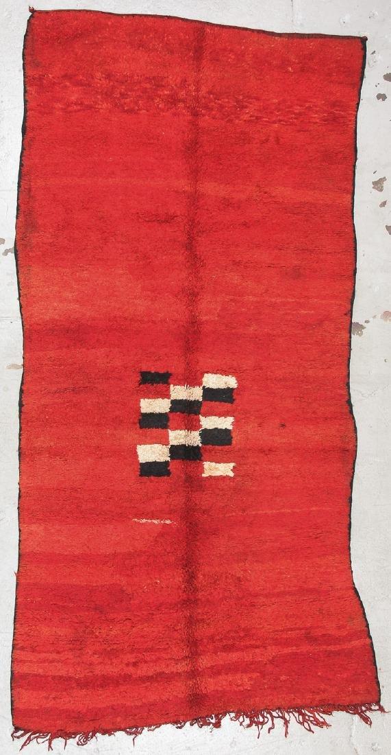 Mid Century Moroccan Rug: 5'4'' x 10' (163 x 305 cm)