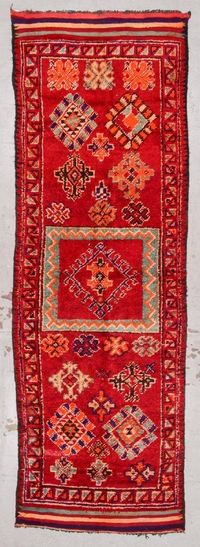 Vintage Moroccan Rug: 4'1'' x 9'10''