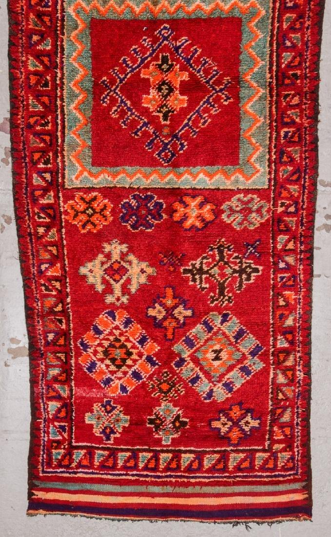 Vintage Moroccan Rug: 4'1'' x 9'10'' - 3
