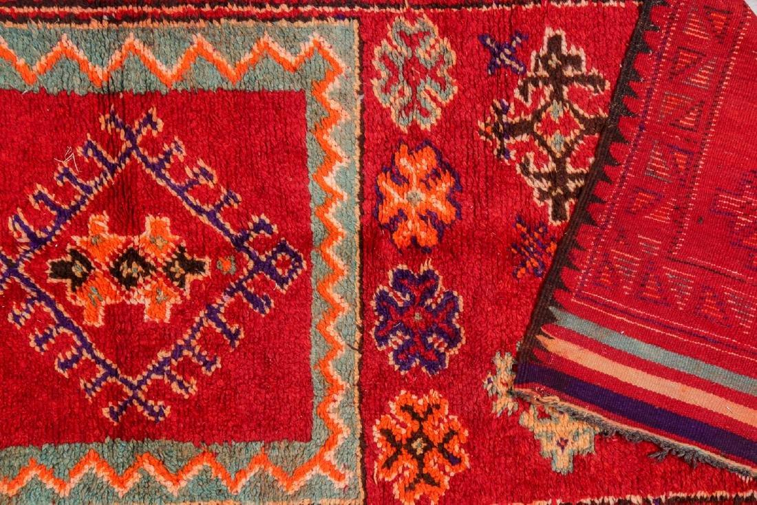 Vintage Moroccan Rug: 4'1'' x 9'10'' - 4