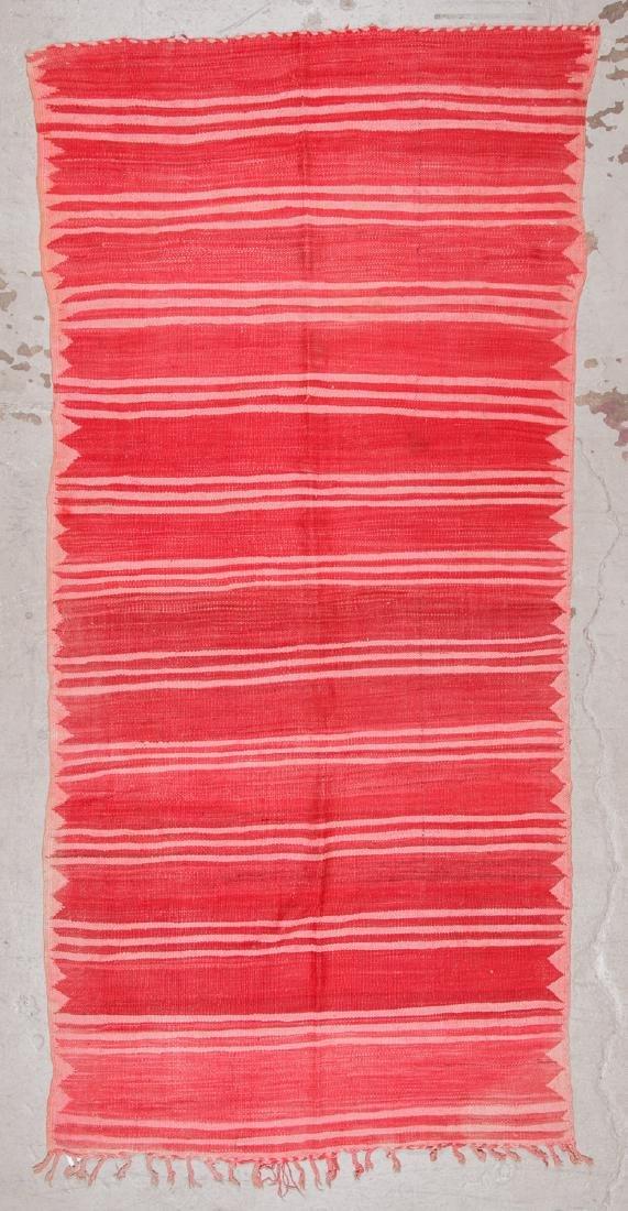 Vintage Moroccan Kilim: 4'11'' x 10'4'' - 7