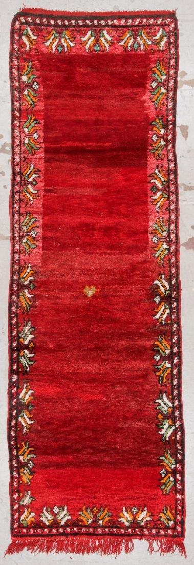 Vintage Moroccan Rug: 3'5'' x 10'5''