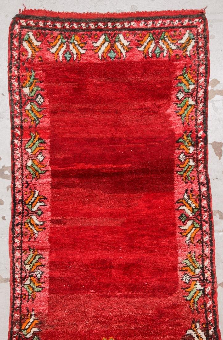 Vintage Moroccan Rug: 3'5'' x 10'5'' - 3