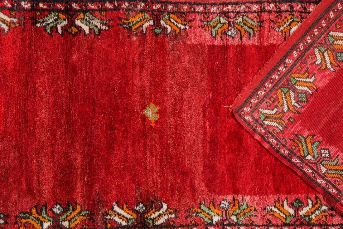 Vintage Moroccan Rug: 3'5'' x 10'5'' - 4