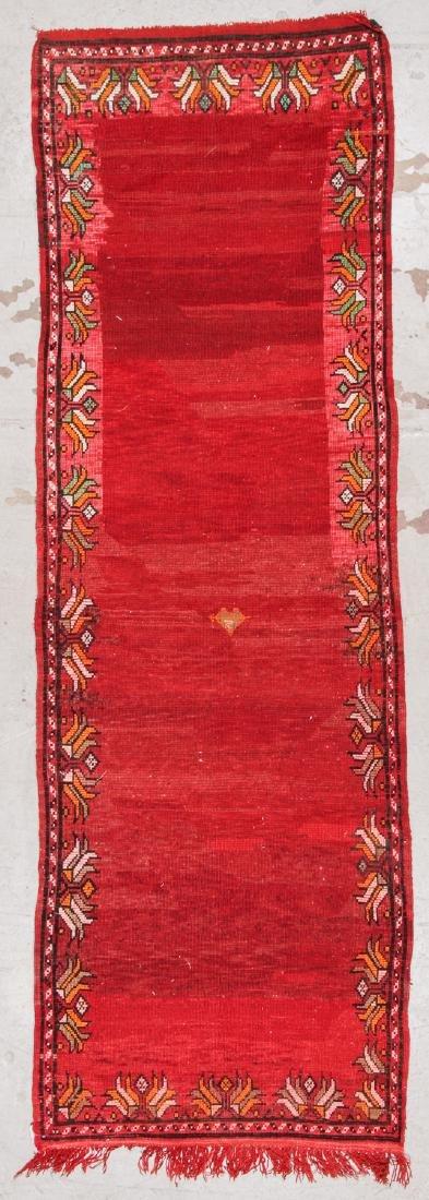 Vintage Moroccan Rug: 3'5'' x 10'5'' - 7