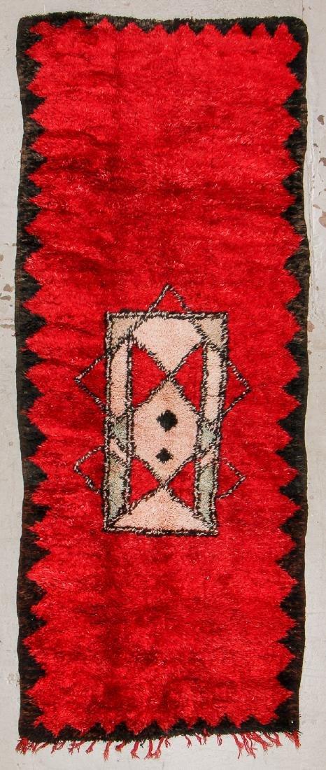 Vintage Moroccan Rug: 4'5'' x 11'4''