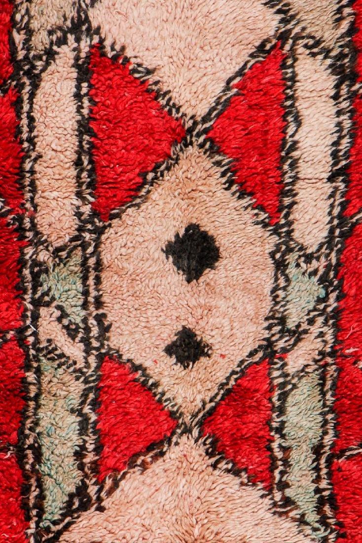 Vintage Moroccan Rug: 4'5'' x 11'4'' - 2