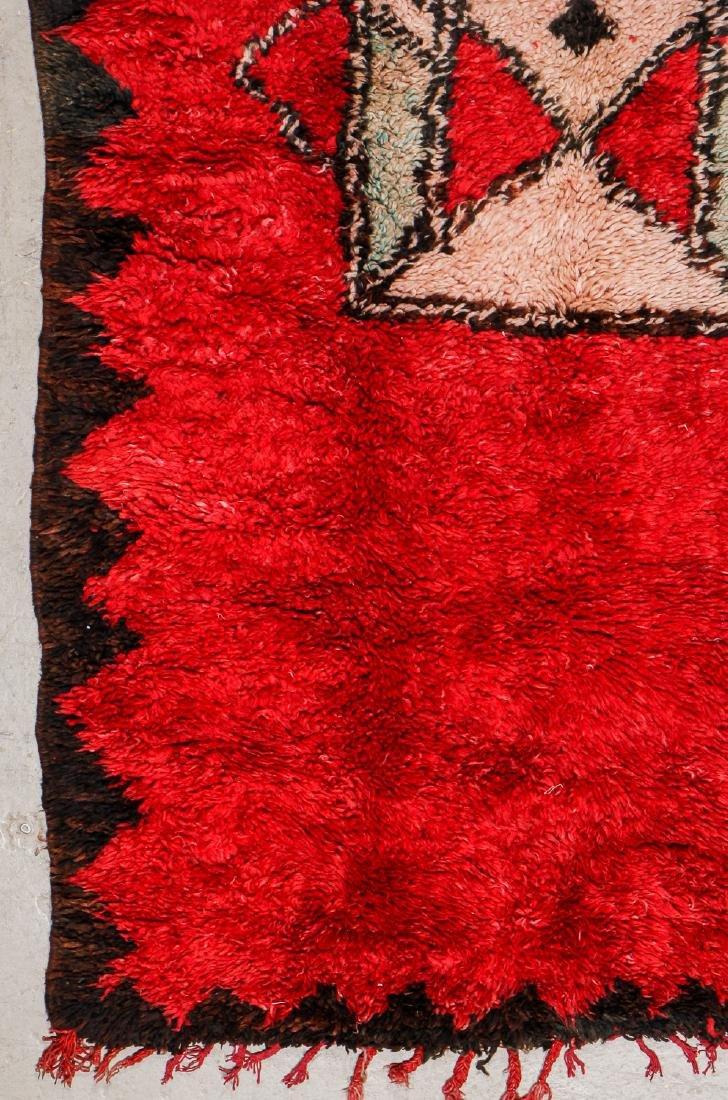 Vintage Moroccan Rug: 4'5'' x 11'4'' - 3