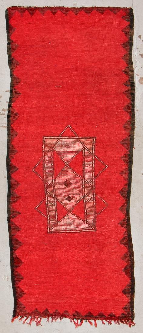 Vintage Moroccan Rug: 4'5'' x 11'4'' - 7