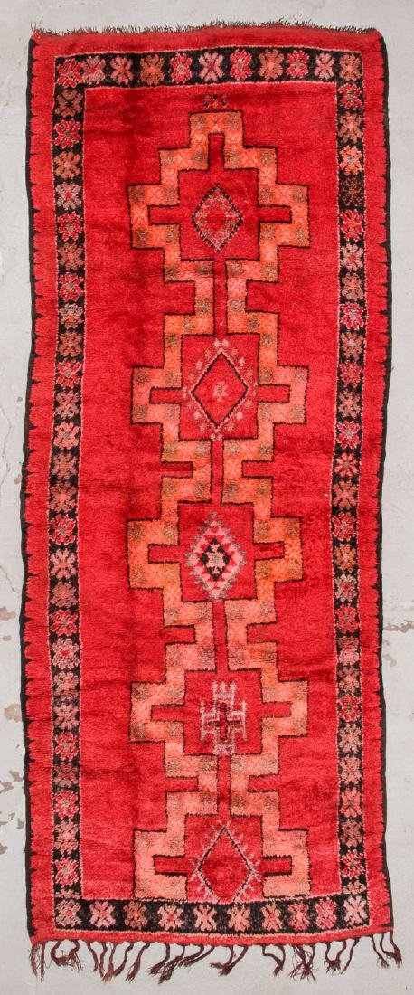 Vintage Moroccan Rug: 5'4'' x 13'9''