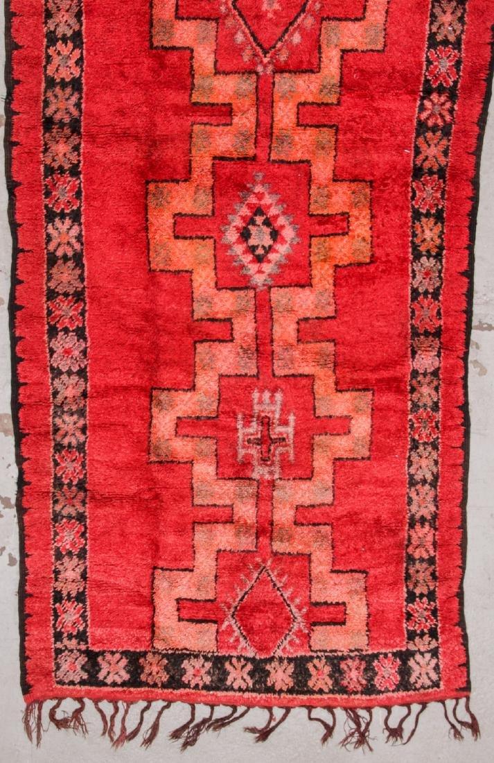 Vintage Moroccan Rug: 5'4'' x 13'9'' - 3