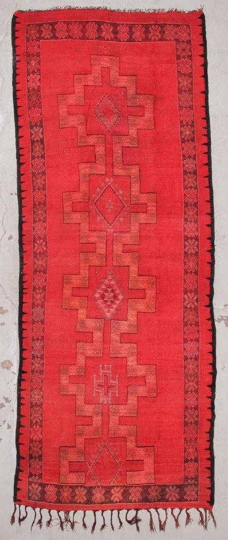 Vintage Moroccan Rug: 5'4'' x 13'9'' - 7