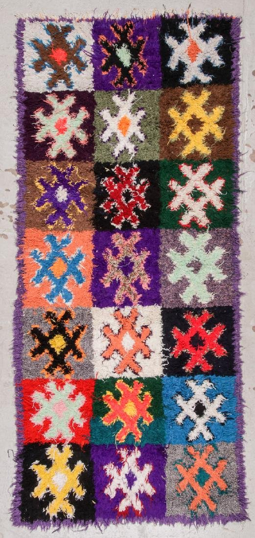 Vintage Moroccan Rug: 4'4'' x 10'