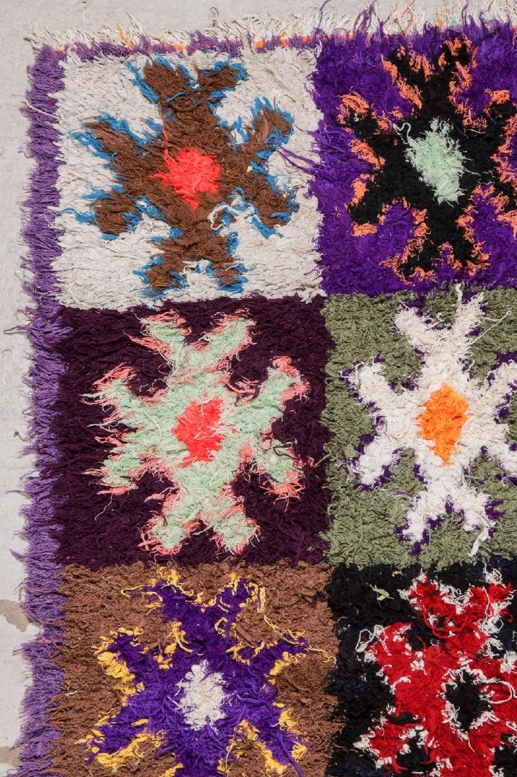 Vintage Moroccan Rug: 4'4'' x 10' - 3