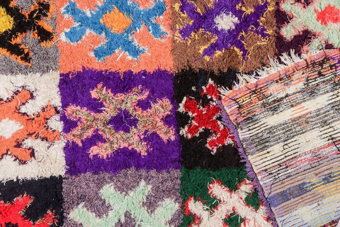 Vintage Moroccan Rug: 4'4'' x 10' - 4