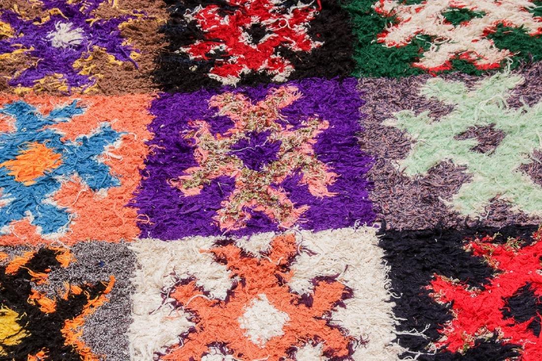 Vintage Moroccan Rug: 4'4'' x 10' - 6