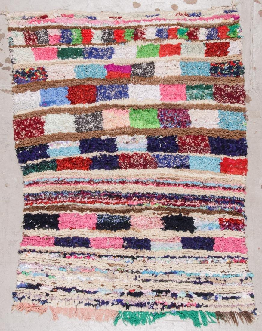 Vintage Moroccan Rug: 4'7'' x 5'11''