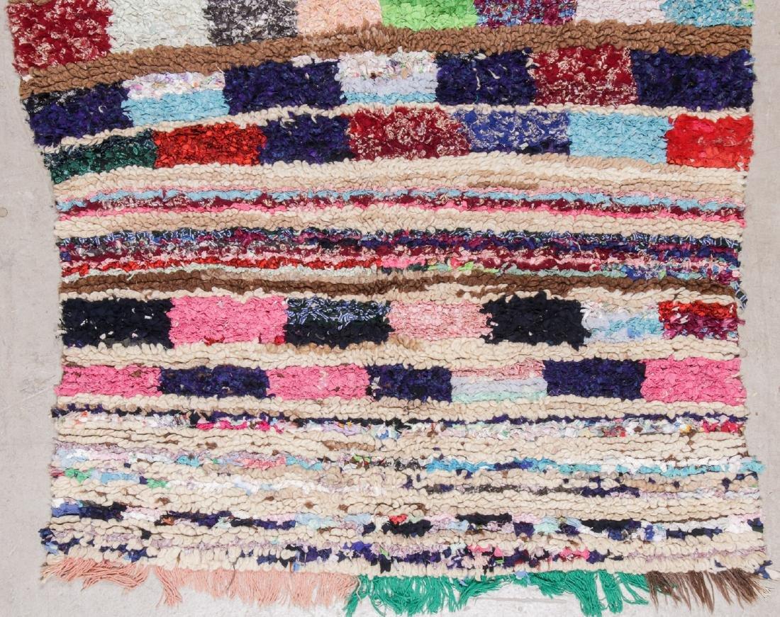 Vintage Moroccan Rug: 4'7'' x 5'11'' - 3