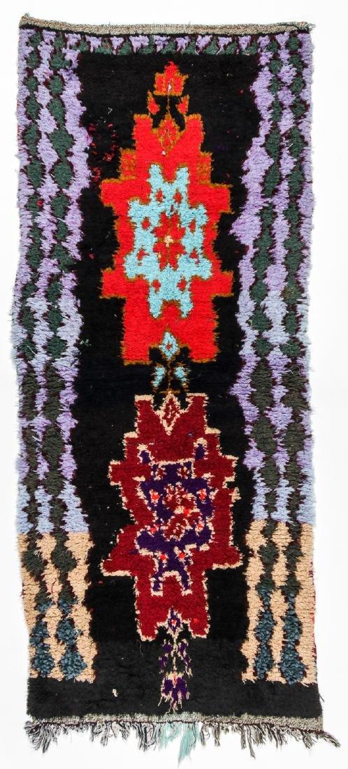Vintage Moroccan Rug: 2'9'' x 6'8''