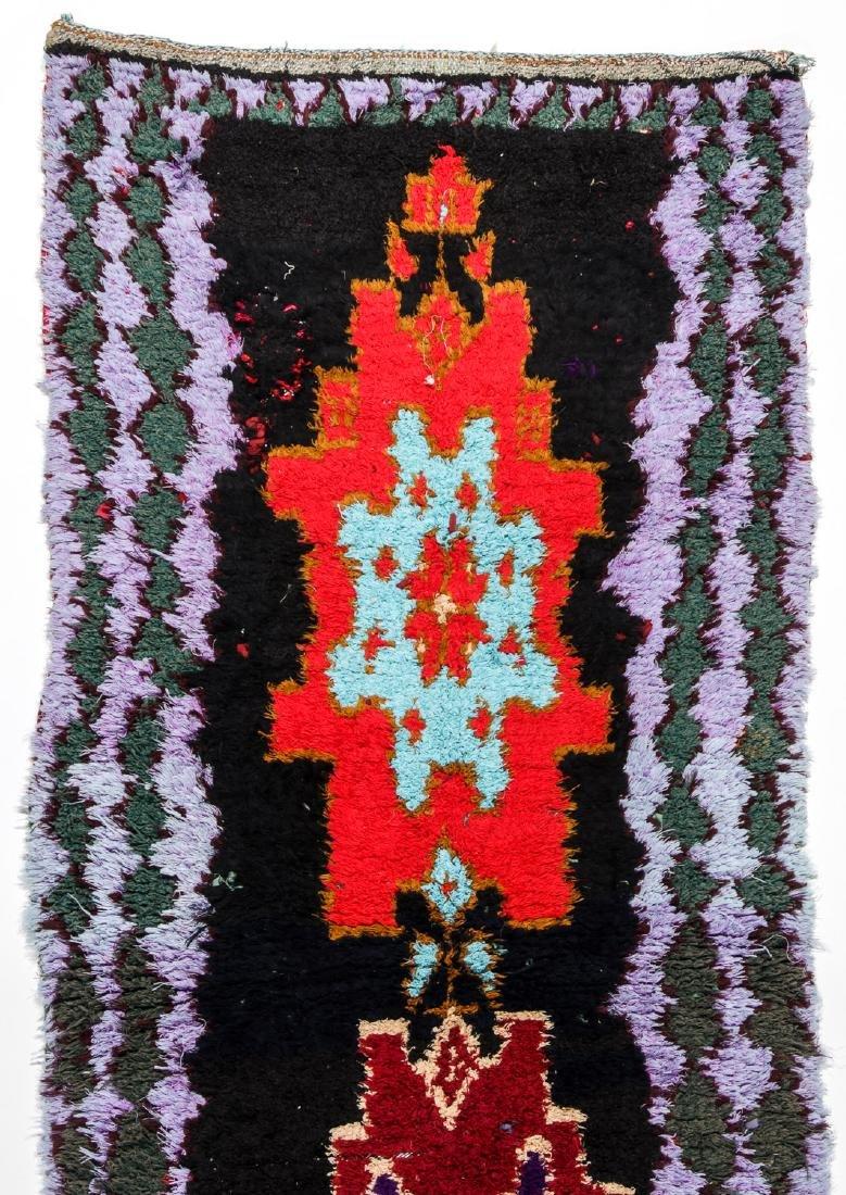 Vintage Moroccan Rug: 2'9'' x 6'8'' - 3