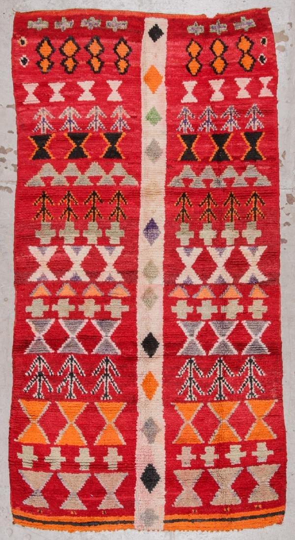 Vintage Moroccan Rug: 4'0'' x 8'6''
