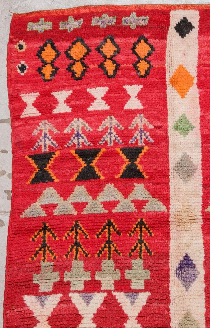 Vintage Moroccan Rug: 4'0'' x 8'6'' - 3