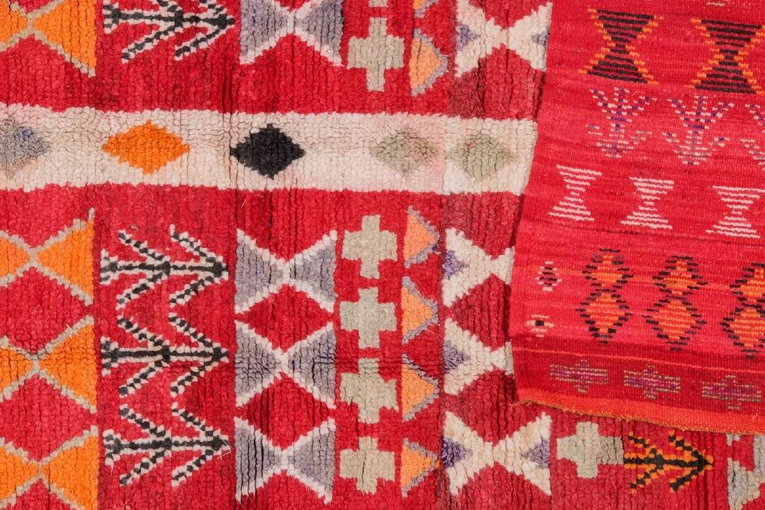 Vintage Moroccan Rug: 4'0'' x 8'6'' - 4