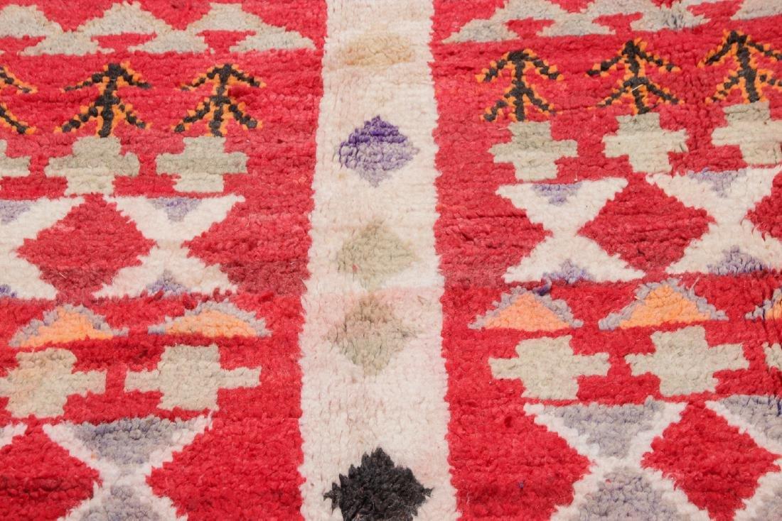 Vintage Moroccan Rug: 4'0'' x 8'6'' - 6
