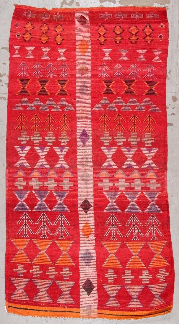 Vintage Moroccan Rug: 4'0'' x 8'6'' - 7