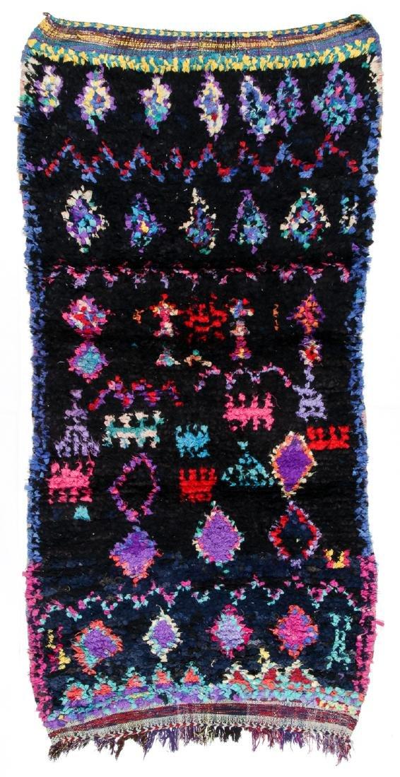 Vintage Moroccan Rug: 3'10'' x 7'8''
