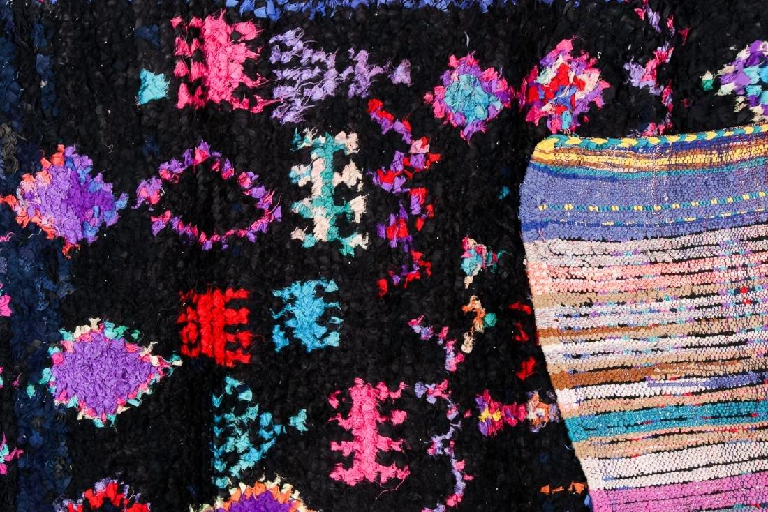 Vintage Moroccan Rug: 3'10'' x 7'8'' - 4