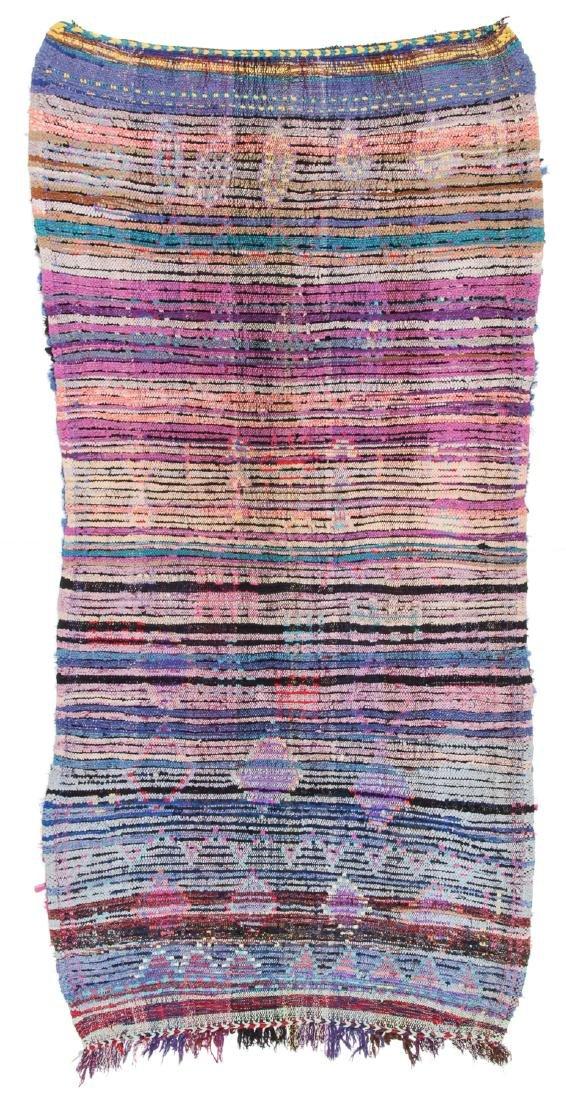 Vintage Moroccan Rug: 3'10'' x 7'8'' - 6