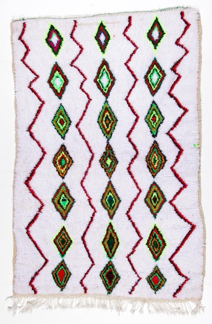 Vintage Moroccan Rug: 4'3'' x 6'4''