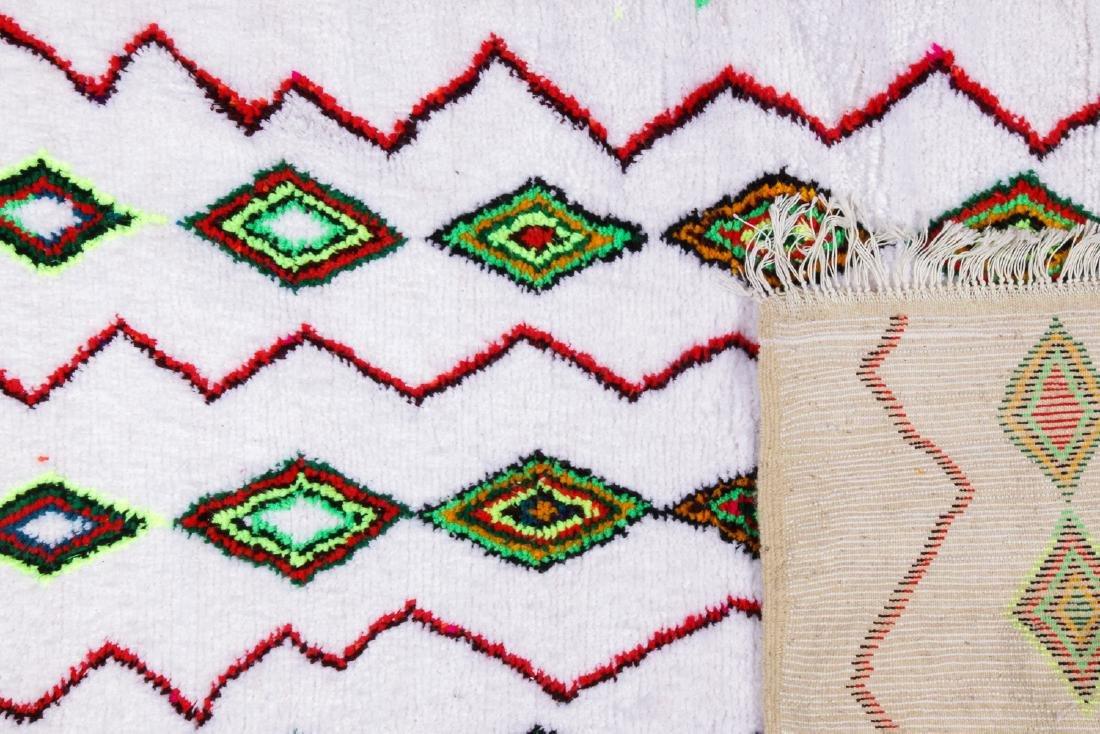 Vintage Moroccan Rug: 4'3'' x 6'4'' - 4