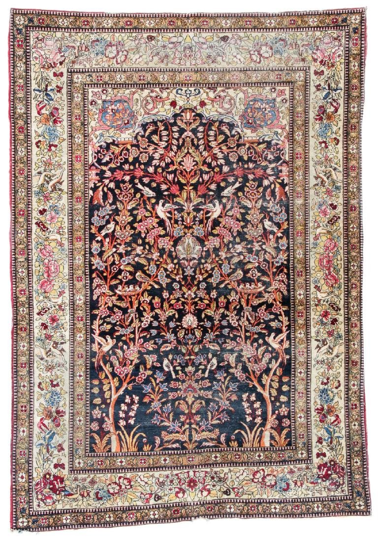 Antique Lavar Kerman Prayer Rug, Persia: 4'9'' x 6'10''
