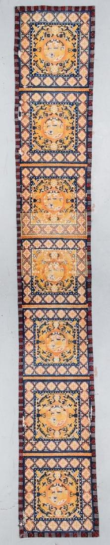 Antique Tibetan Monastery Rug: 2'6'' x 15'9''