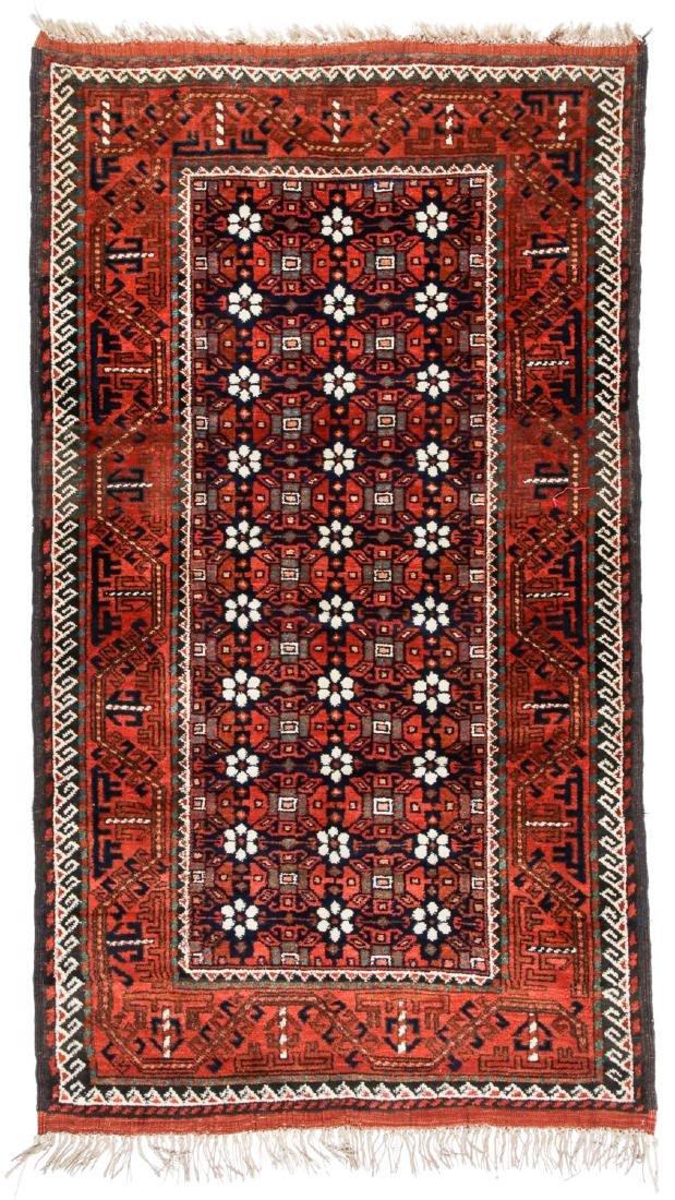 Antique Beluch Rug, Afghanistan: 4'4'' x 7'8''