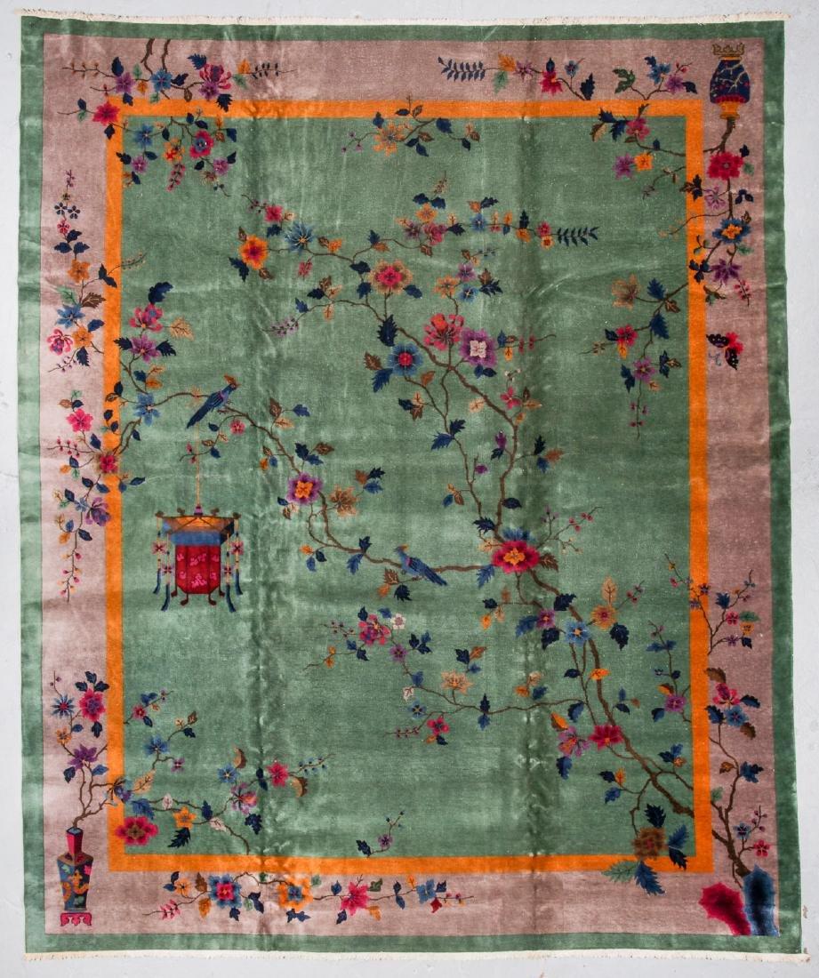 Semi-Antique Art Deco Rug, China: 11'11'' x 14'4''