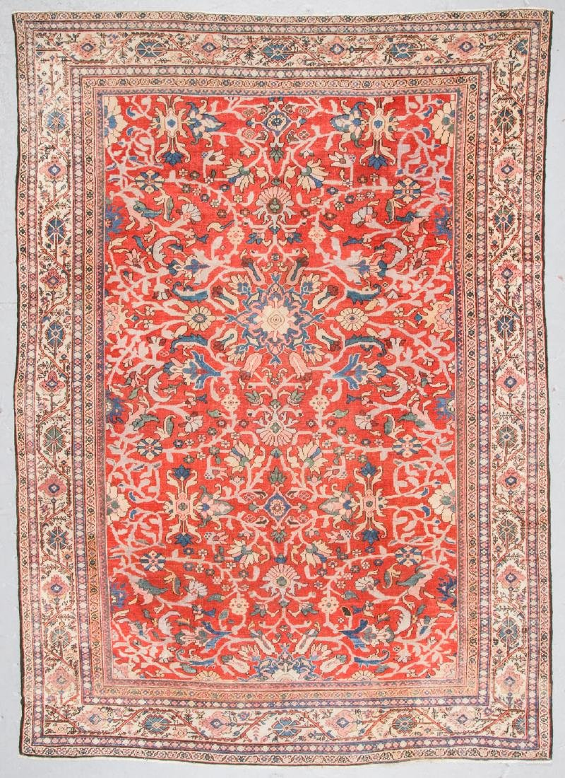 Antique Sultanabad Rug, Persia: 8'4'' x 11'9''