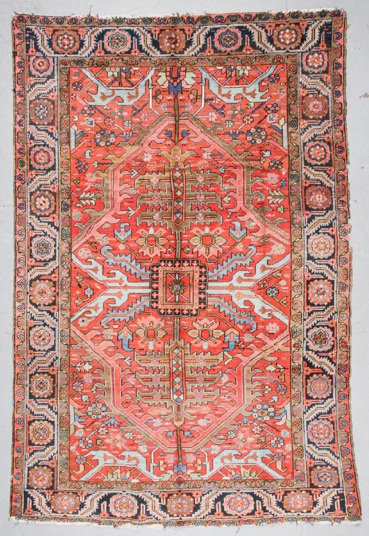 Antique Heriz Rug, Persia: 7'11'' x 12'