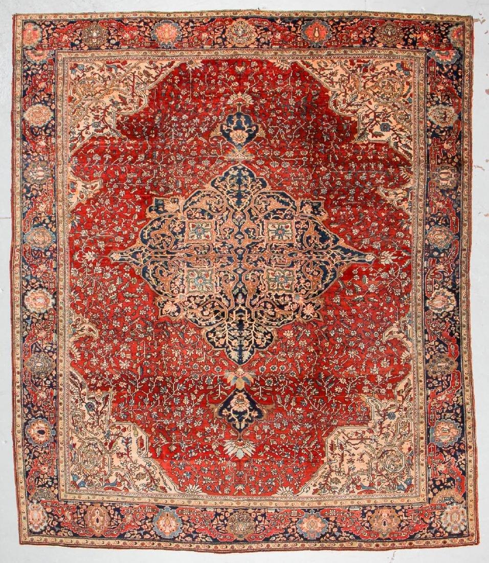 Antique Sarouk Ferahan Rug, Persia: 10' x 11'7''