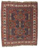 Antique Sumak Rug, Caucasus: 5'3'' x 6'3''