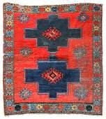 Antique Kazak Rug, Caucasus. Size: 4'5'' x 4'10''