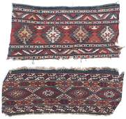 2 Antique Caucasian Sumak Cargo Panels